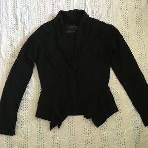 All Saints Sancia Black Wool Jacket Size 12